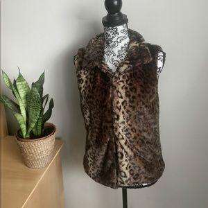 Leopard Animal Print Furry Cozy Teddy Vest